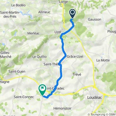 De D81, L'Hermitage-Lorge à D7, Saint-Caradec