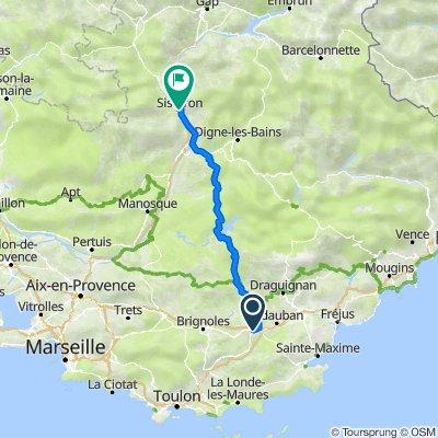 De Route de Nice, Le Luc à Avenue de la Libération, Sisteron