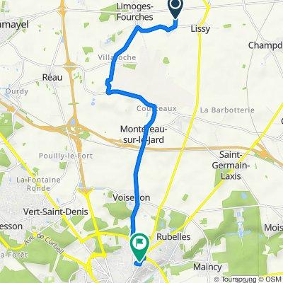 Chemin de Soignolles, Limoges-Fourches nach 1–13 Rue André Malraux, Melun