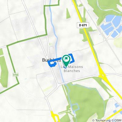 De 11 Rue du Bourg, Buchères à 13 Ruelle des Colettes, Buchères