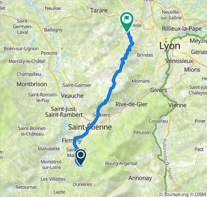 De 287–967 Route des Gageyres, Saint-Romain-Lachalm à 10 Rue des Tanneries, Sain-Bel