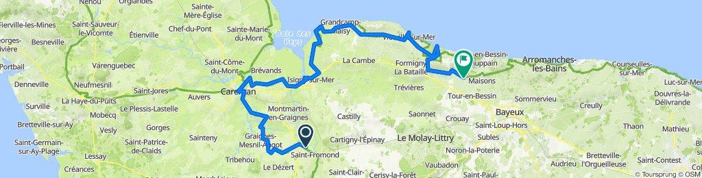 De La Rougerie 1, Saint-Fromond à D206, Étréham
