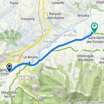 Itinéraire vers Route de Brouilla, Saint-Génis-des-Fontaines