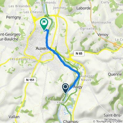 De 59–63 Rue de Poiry, Auxerre à 12 Rue Roland Garros, Auxerre