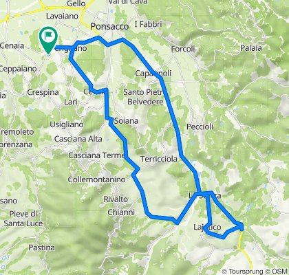 Da Via Sposini 16, Casciana Terme Lari a Via Sposini 14, Casciana Terme Lari
