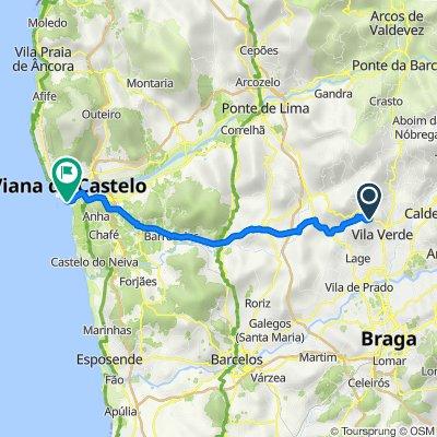 N308 120, Esqueiros to Rua Diogo Cão 224, Viana do Castelo