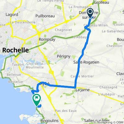 Rue des Tilleuls 9, Dompierre-sur-Mer nach Route de la Plage 66, Aytré