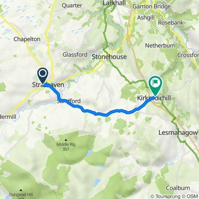 Route to 214 Carlisle Road, Lanark