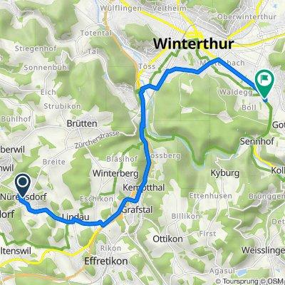 Maulackerstrasse 4, Nürensdorf nach Roggenweg 10, Winterthur
