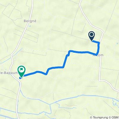 De Route de Chaussé 7, Le Bourdet à Rue de la Métairie 2, Le Bourdet