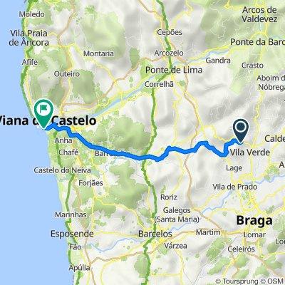 N308 120, Esqueiros to Avenida do Cabedelo 1859, Viana do Castelo