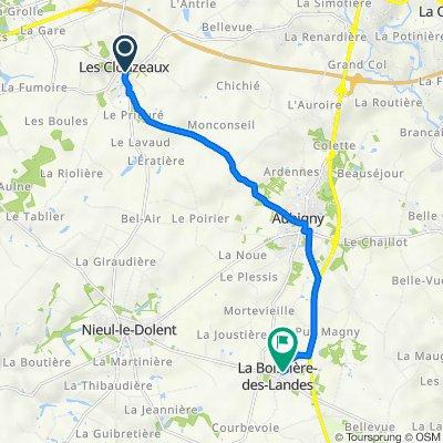 De Rue de l'Océan, Les Clouzeaux à 14–26 Rue de la Poste, La Boissière-des-Landes
