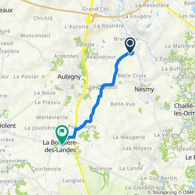 De 14 Le Hameau du Golf, Nesmy à 14–26 Rue de la Poste, La Boissière-des-Landes