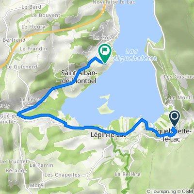 Route du Lac, Aiguebelette-le-Lac nach 272 Chemin de Lavy, Saint-Alban-de-Montbel