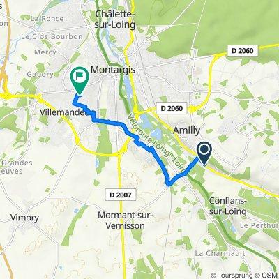 De 506 Rue du Gros Moulin, Amilly à 3 Rue André le Nôtre, Villemandeur