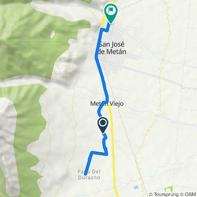 De Ruta Provincial 34 a Tartagal 31, Metán