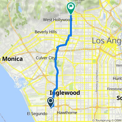 869 N Douglas St, El Segundo to 1660–1684 N Highland Ave, Los Angeles