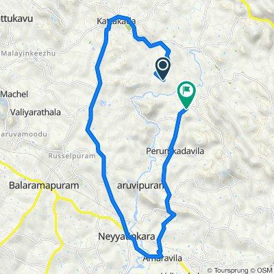 Route from Kodannoor-Keezharoor Road, Kulathummal