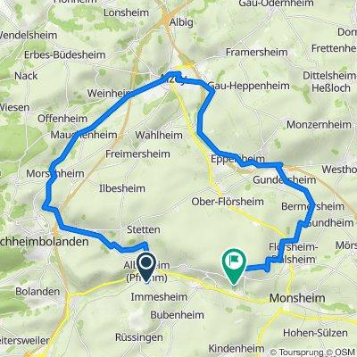 Albisheim (Pfrimm) nach Unnamed Road, Mölsheim