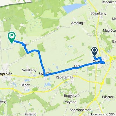 Szatmári utca 7, Csorna to Öntésmajor-Petőfi utca 9, Kapuvár