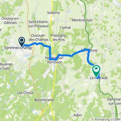 De 45 Rue d'Ouzouer, Varennes-Changy à 8 Rue du District, Sainte-Geneviève-des-Bois