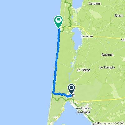 De 35 Chemin de la Carasse, Le Cap-Ferret à 4 Allées Pierre Ortal, Lacanau
