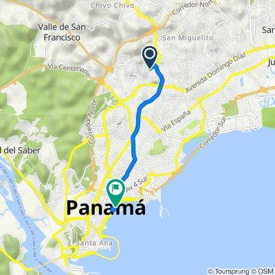 De Calle 40459 40459, San Miguelito a Cinta Costera 14401-02, Panamá