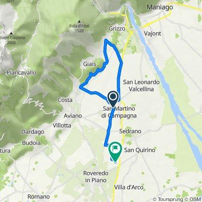 Percorso per Via Pola 4, San Quirino