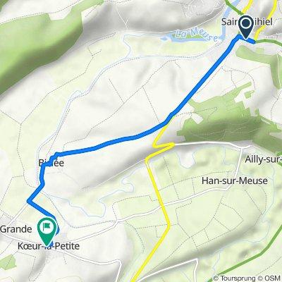 De 1 Rue du Docteur Albert Thiéry, Saint-Mihiel à 1 Place Haroy, Koeur-la-Petite