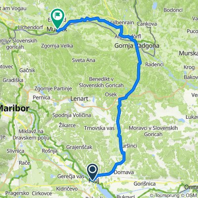 Mur9: Ptuj - Bad Radkersburg - Mureck, 64km, 218hm