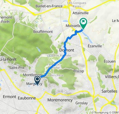 De 20 Allée François Mauriac, Margency à Chemin des Bourguignons, Moisselles