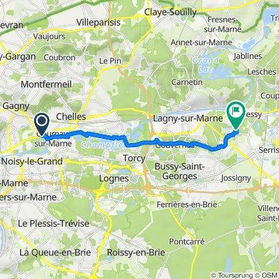 De 71 Avenue Jean Jaurès, Neuilly-sur-Marne à 15 Cour de la Fontaine aux Pommiers, Montévrain