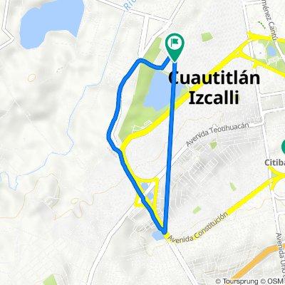 De Selene 29, Cuautitlán Izcalli a 1ᵈᵃ Cerrada Minerva 116, Cuautitlán Izcalli
