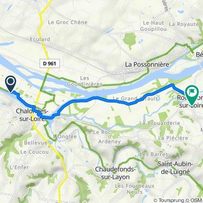De La Motte, Chalonnes-sur-Loire à Rue des Écoles, Rochefort-sur-Loire