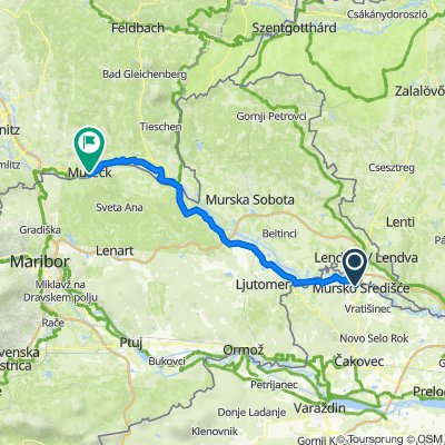 MurV9Süd: Mursko Sredisce - Mureck, 74,6km 144hm