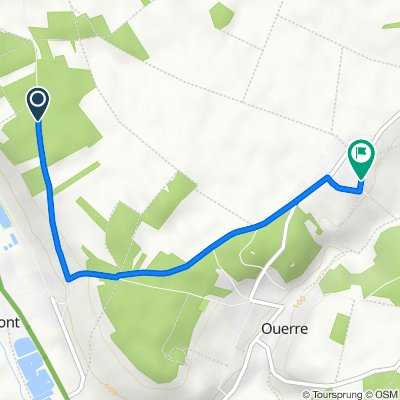 De D308, Mézières-en-Drouais à 14 Rue Saint-Roch, Ouerre