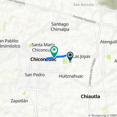 De Calle La Merced, Chiconcuac de Juárez a Avenida Trabajo 12–15, Chiconcuac de Juárez