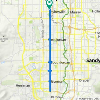 4492 S Parkbury Way, West Valley City to 4492 S Parkbury Way, West Valley City
