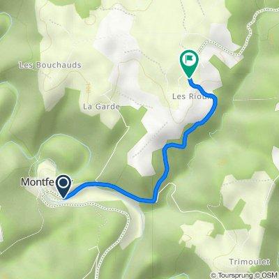 De D418, Montfermy à D418, Chapdes-Beaufort