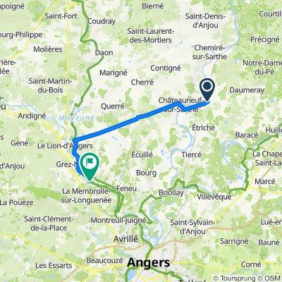 De Allée de la Liberté, Morannes sur Sarthe-Daumeray à Rue du Bac 12, Longuenée-en-Anjou