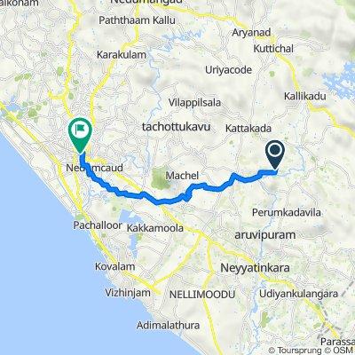 Route from Kattakkada