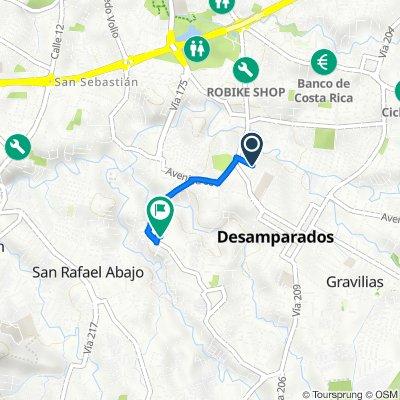 Avenida 74, San Jose to Calle del Contador, San Jose