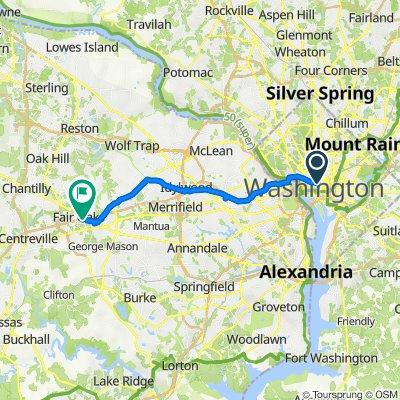1336 G St NW, Washington to 4112 Fairfax Hills Way, Fairfax