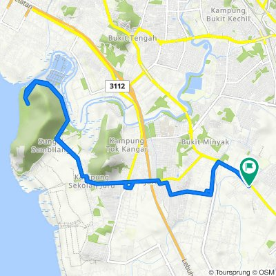 Jalan Bukit Merah, Permatang Tinggi to Jalan Bukit Merah, Permatang Tinggi