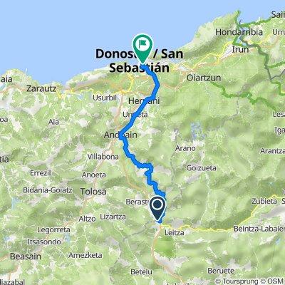 GI-2130, Berastegi to Frantzia Pasealekua, 22, Donostia-San Sebastián