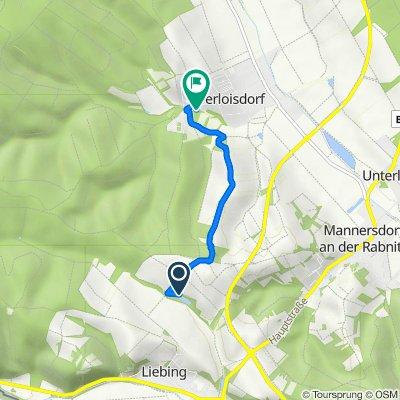 Route nach Waldgasse 19, Oberloisdorf