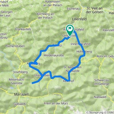 Lehenrotte - Türnitz - Annaberg - Hubertussee - St.Aegyd