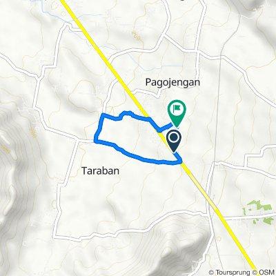 Jalan Pangeran Diponegoro 184, Kecamatan Paguyangan to Unnamed Road, Kecamatan Paguyangan