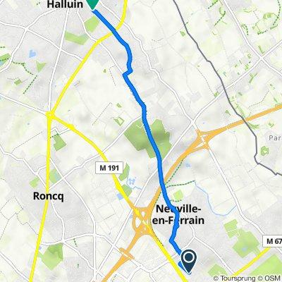 De 59 Rue du Docteur Delegrange, Neuville-en-Ferrain à 107 Rue Joseph Hentges, Halluin