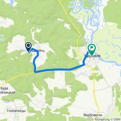 От Наровлянский район до улица Ленина 9, Наровля